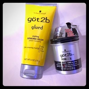 Got2B Hair Spiking Wax Gel Bundle